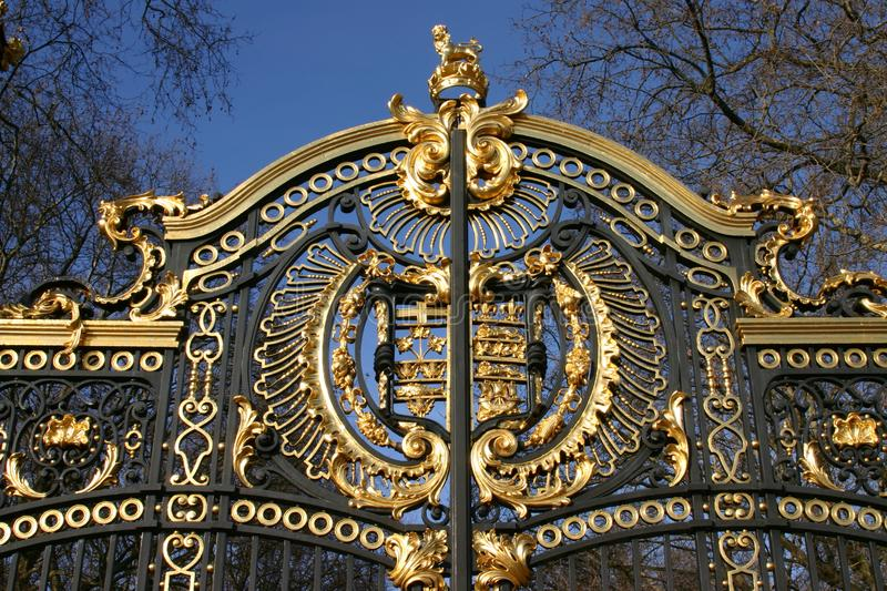 Details of the Canada Gate in London, UK. Canada Gate also commonly called Maroto Gate forms part of the Queen Victoria Memorial scheme in London. An entrance royalty free stock photos