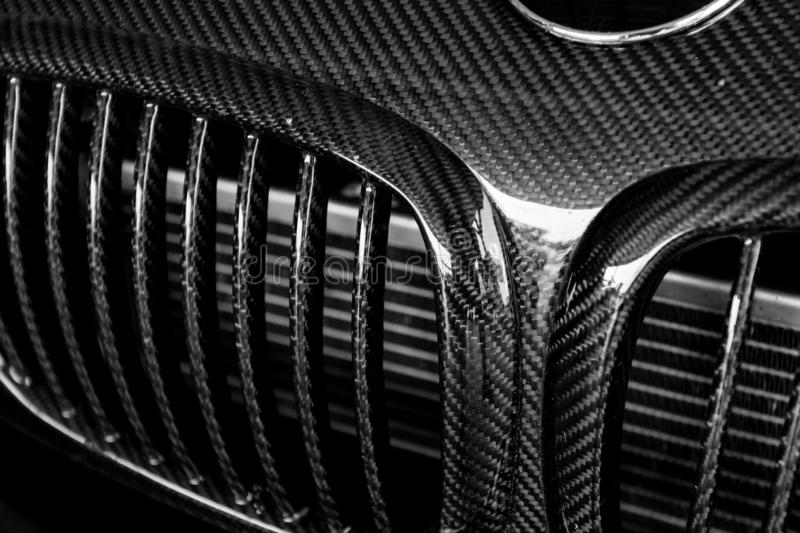 Grille of a modern sports car royalty free stock photos