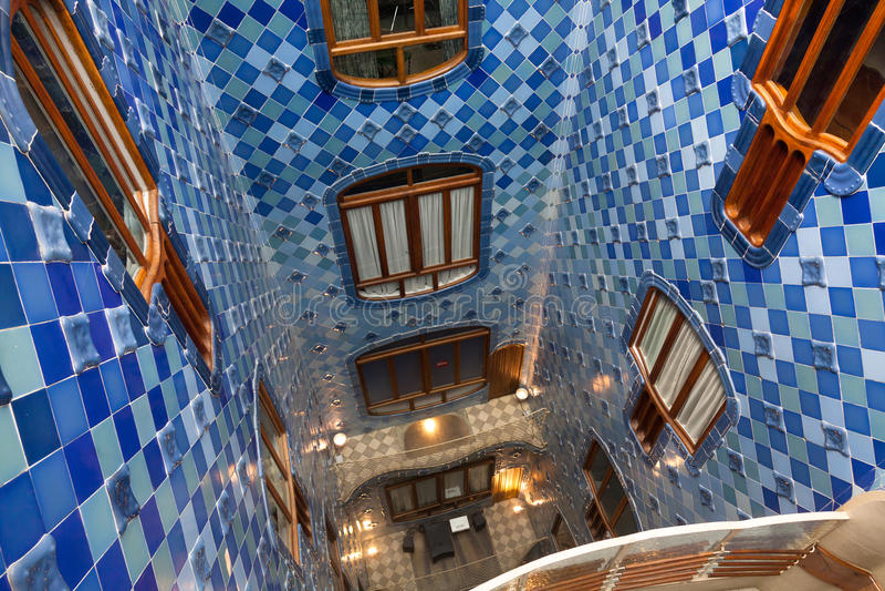 Details from Casa Batllo. Barcelona - Spain. BARCELONA-APRIL 14: Details from Casa Batllo, restored by Antoni Gaudi and Josep Maria Jujol, built in the year 1877 stock photo