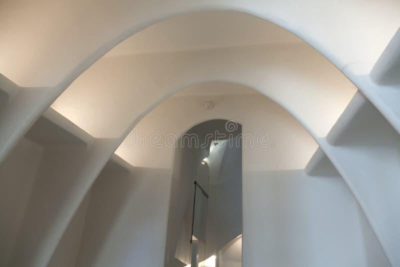 Details from Casa Batllo. Barcelona - Spain. BARCELONA-APRIL 14: Details from Casa Batllo, restored by Antoni Gaudi and Josep Maria Jujol, built in the year 1877 royalty free stock photos