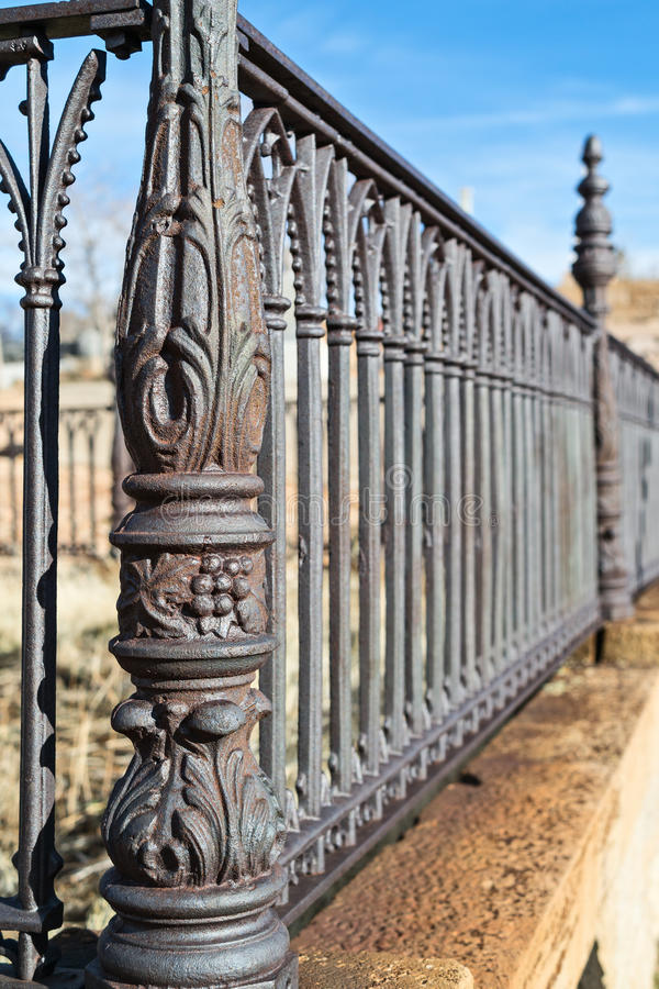 Details, cemetery fence stock photos
