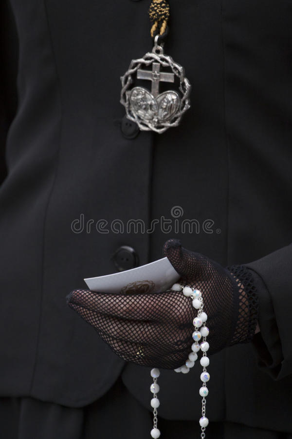 Details Of The Christian Believer. Stock Image