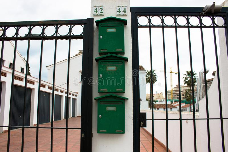 Mailboxes. royalty free stock photo