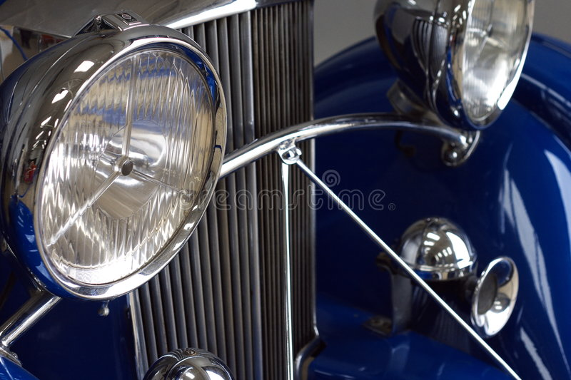 Details of classic car stock photos