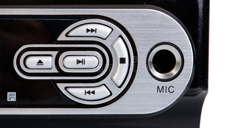 Details of the control buttons of a dvd player royalty free stock photos