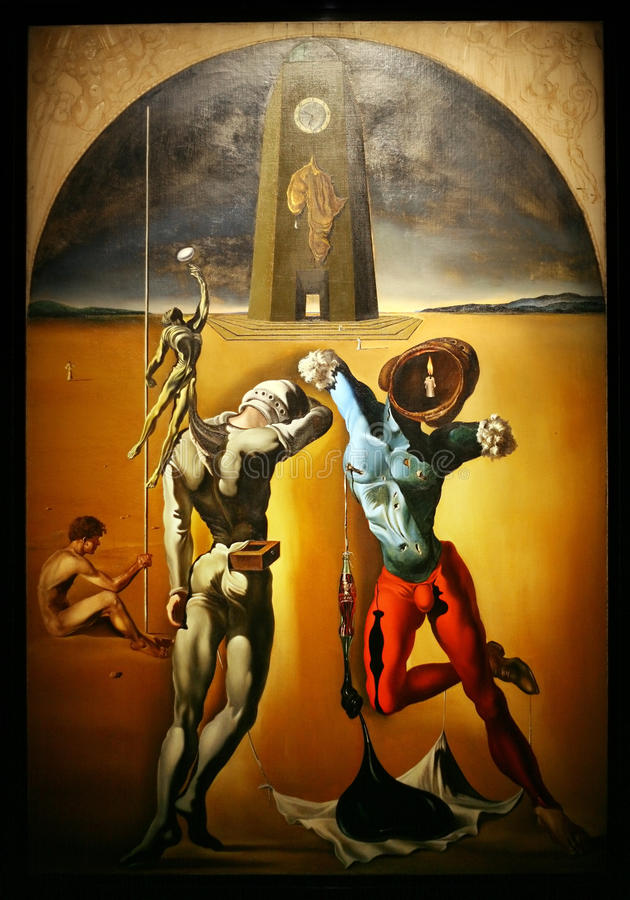 Details from Dali's Museum. FIGUERAS, SPAIN - APRIL 18: Details from Dali's Museum, opened on September 28, 1974 and housing the largest collection of works by royalty free illustration