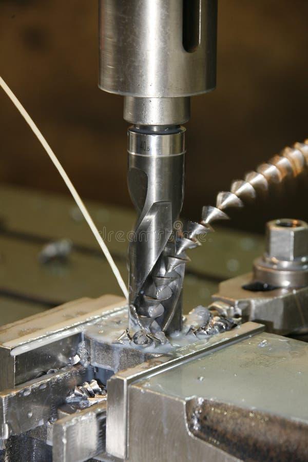 Details der Bohrmaschine stockfotografie