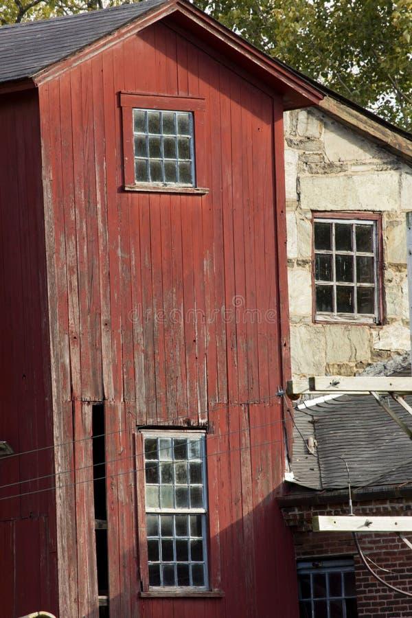 Details der Collins Axe Factory-Ruinen im Bezirk, Connecticut lizenzfreies stockfoto
