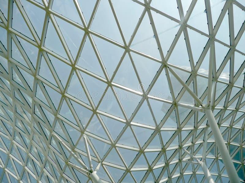 Details der Dächer Tarasy-Malls im Warschau-Stadtzentrum stockfotografie