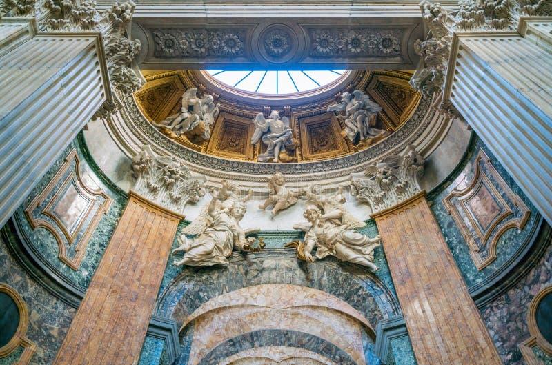 Details in der Kirche von Sant-` Agnese in Agone in Rom, Italien lizenzfreie stockfotografie