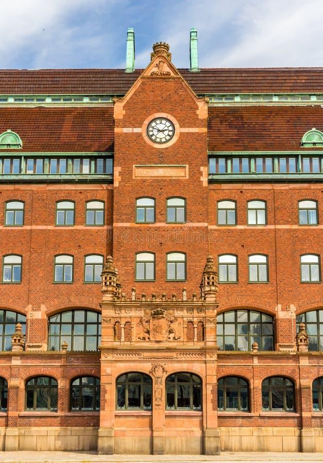 Details der zentralen Post von Malmö lizenzfreie stockbilder