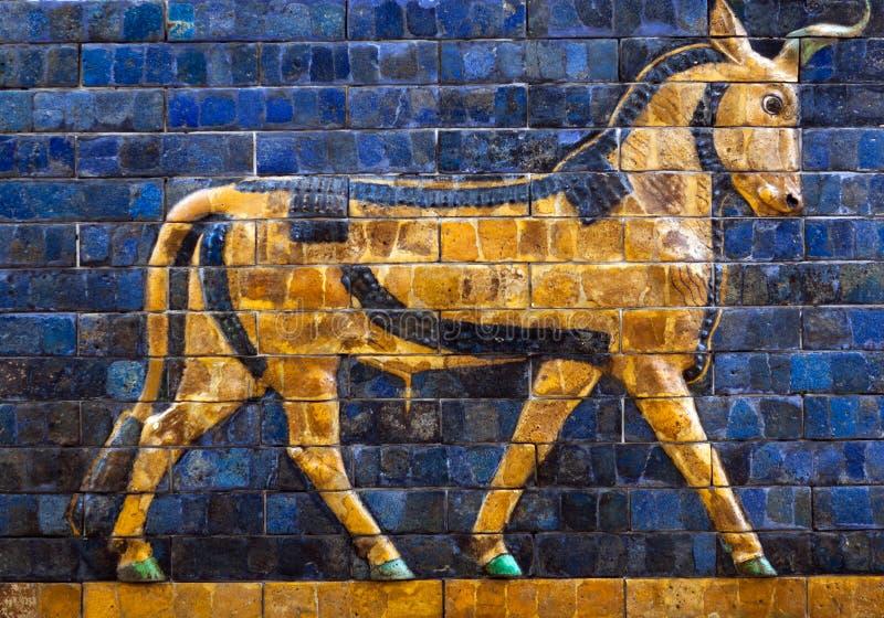 Details des Babylonian Ishtar-Felsens lizenzfreies stockfoto
