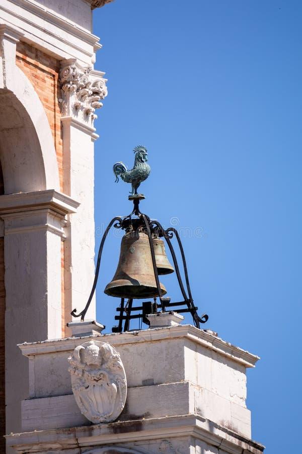 Details des Basilika della Santa Casa in Italien Marken lizenzfreies stockfoto