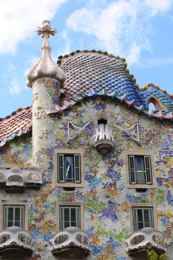 Details des Hauses von Gaudi lizenzfreie stockfotos