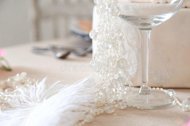 Details of the design of the table royalty free stock photo