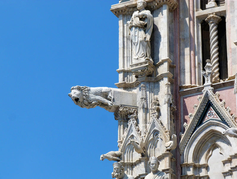 Details of dome facade at Siena stock image