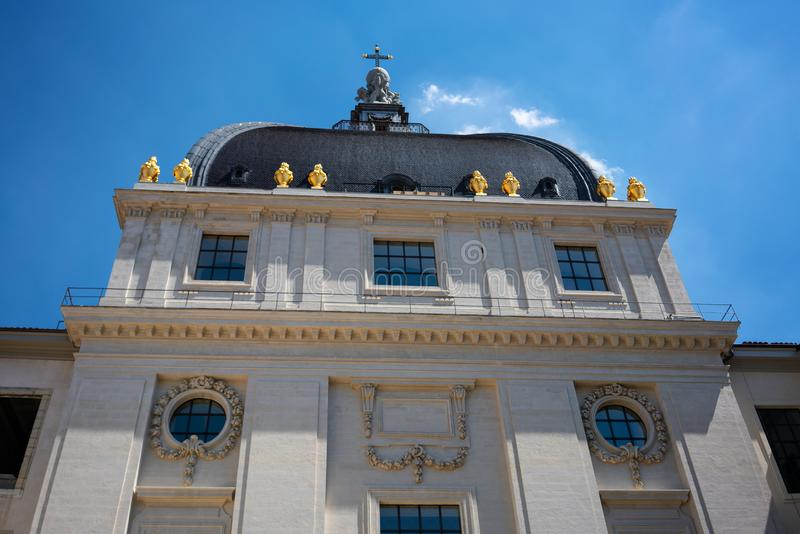 Details of dome of Grand Hotel Dieu after 2018 renovation in Lyon France stock photo