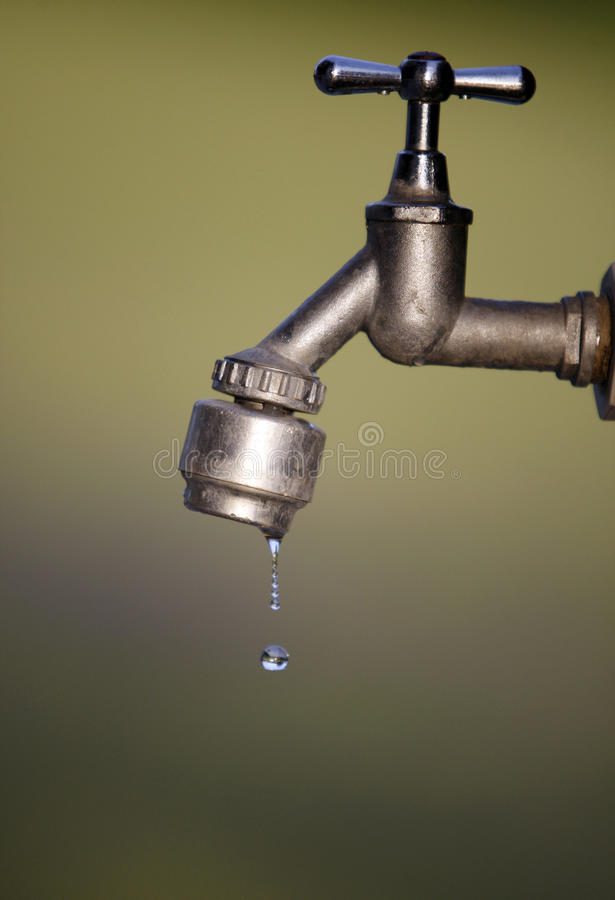 Details of dripping faucet royalty free stock images