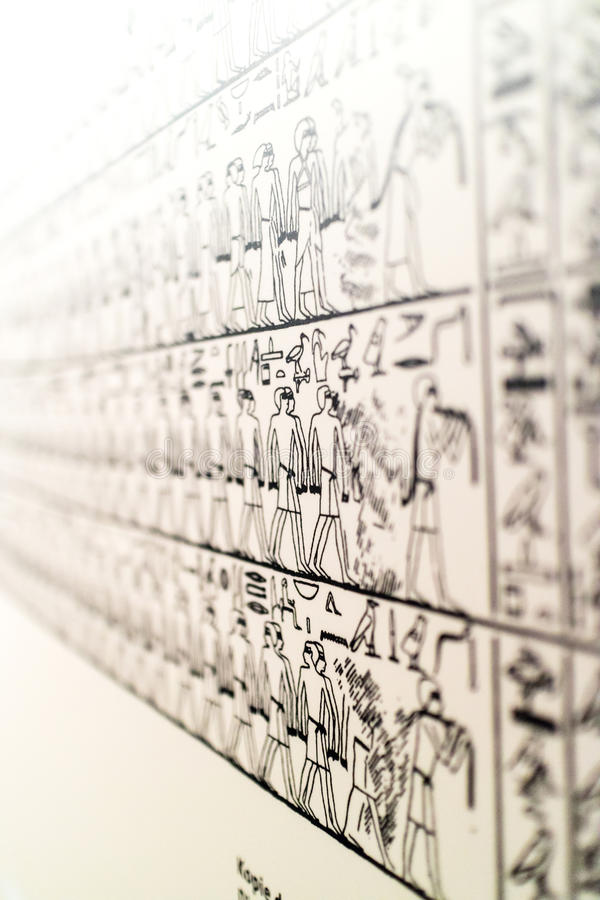 Details from an Egyptian museum stock photography