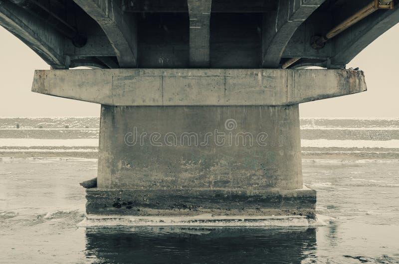 Details eines Brücken-Stummels lizenzfreie stockbilder