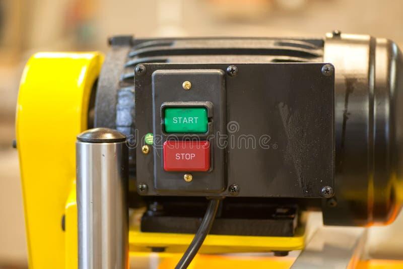 Details en componenten van houtbewerkingsmachine stock afbeelding
