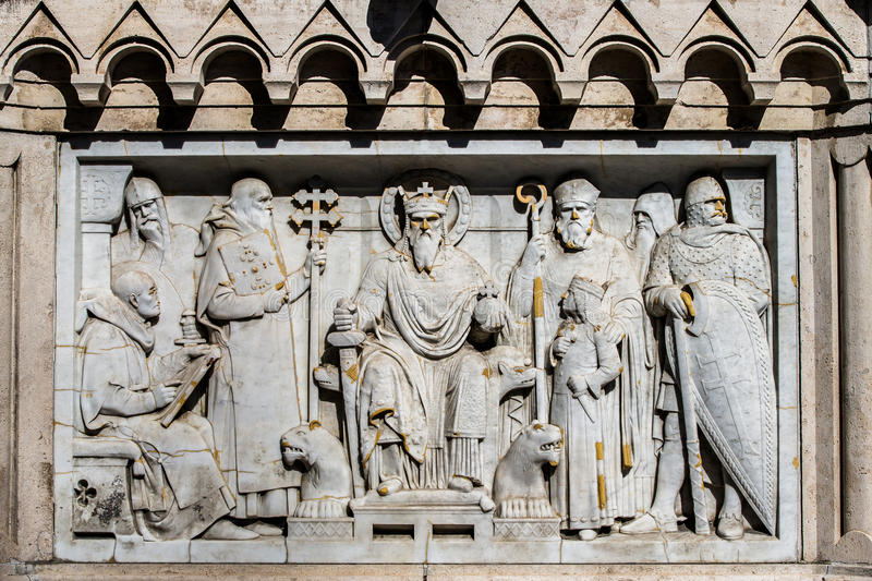 Details of Fishermans Bastion royalty free stock photos