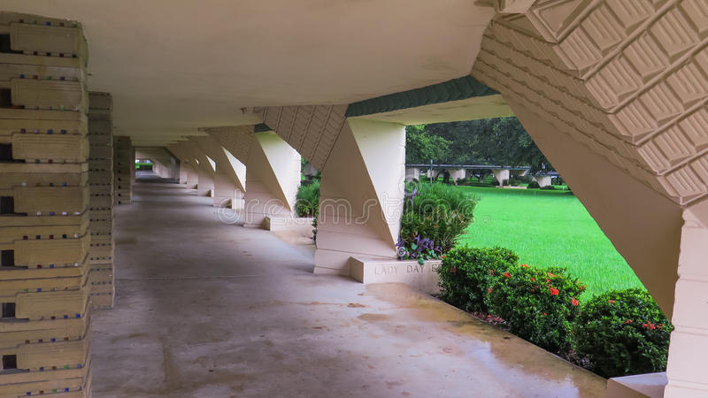 Details Frank Lloyd Wright Lakeland College Florida Southern stock afbeelding