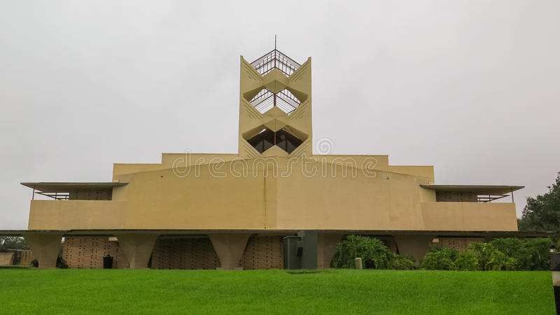 Details Frank Lloyd Wright Lakeland College Florida Southern royalty-vrije stock afbeelding