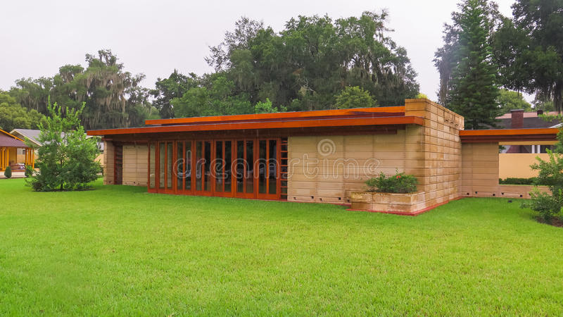 Details Frank Lloyd Wright Lakeland College Florida Southern royalty-vrije stock afbeeldingen