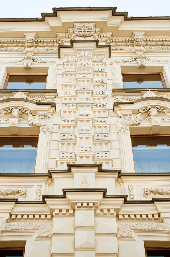 Details of a historic beautiful building, St. Petersburg royalty free stock photos