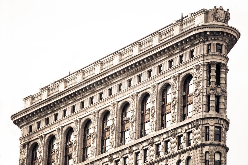 Details on historic Flatiron Building in New York City royalty free stock photography