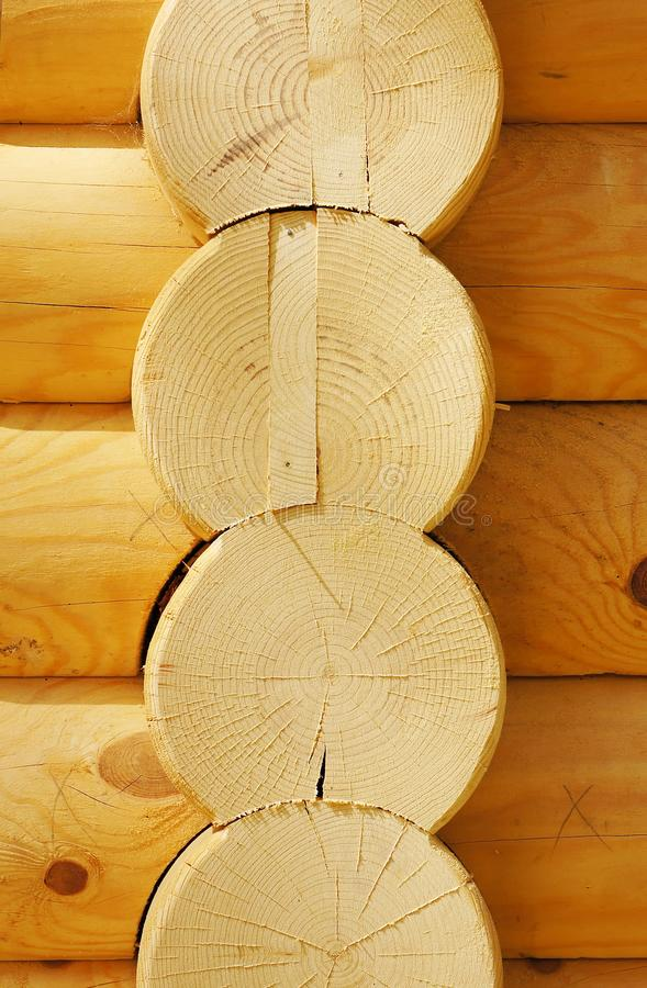 Download The Details Of Houses Made Of Logs Stock Image - Image: 23455719