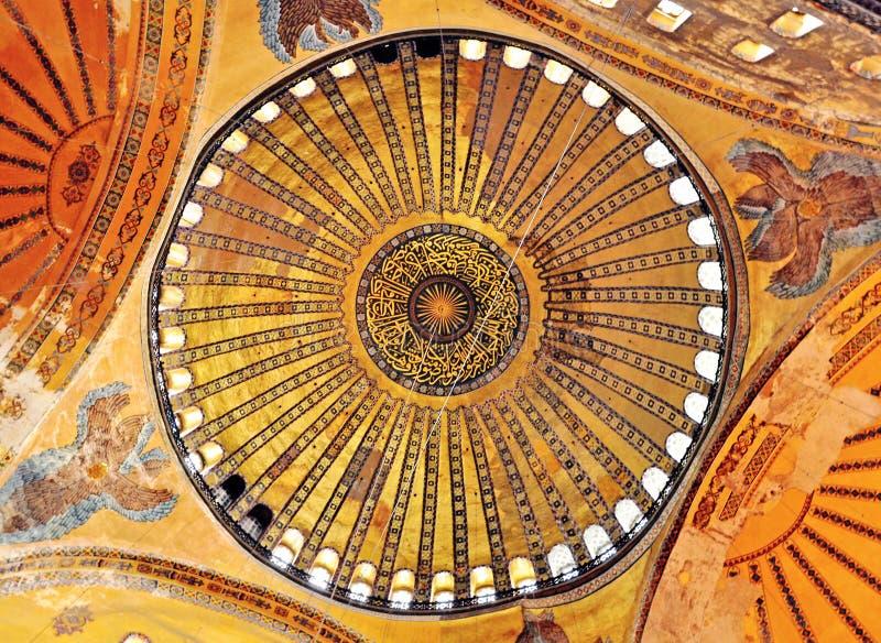 Details of interior of Hagia Sophia church, Istanbul royalty free stock photos