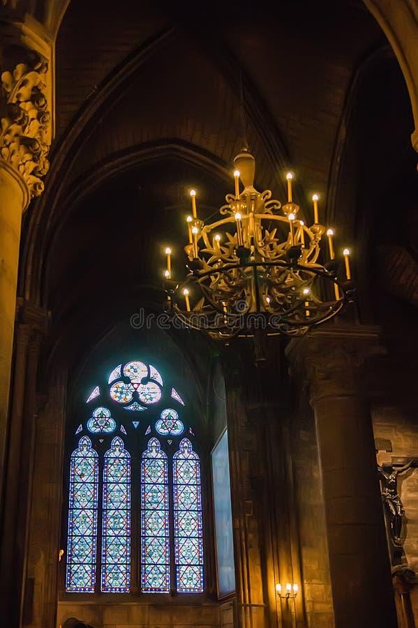 Details of the interior of Notre Dame de Paris royalty free stock image