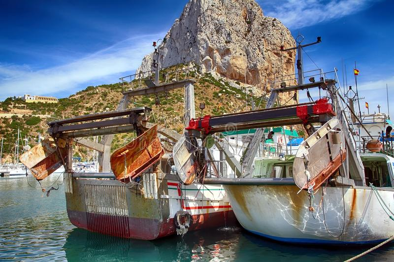 Download Details Of Iron Doors In A Trawler Fishing Boat Docked In Calpe. Stock Image - Image of calpe, harbor: 104638185