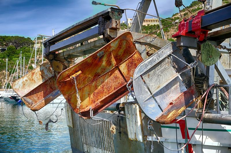Download Details Of Iron Doors In A Trawler Fishing Boat Docked In Calpe. Stock Image - Image of iron, lighthouse: 104638227