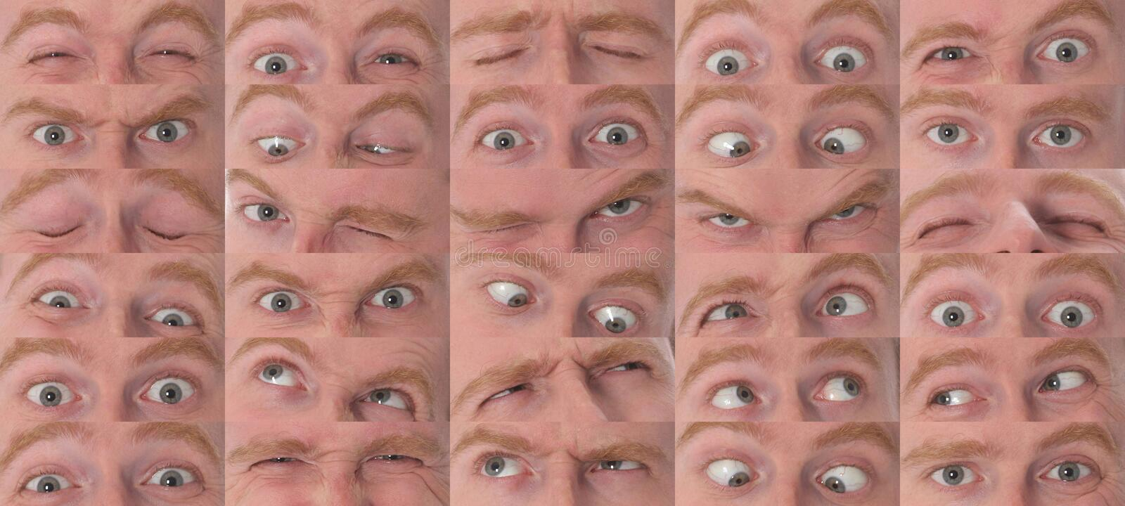 Eyes expressions in closeup royalty free stock image