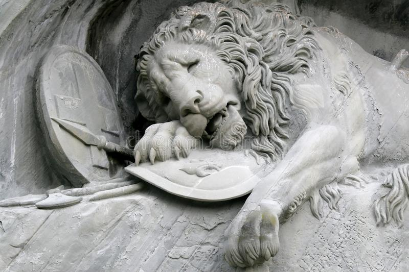 Download Details Of The Lion Of Luzern In Switzerland Stock Photo - Image: 9837904