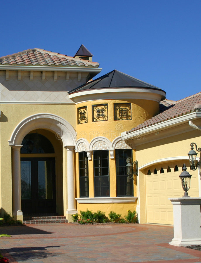 Details of Model Home. Details of Entrance and circular room in model home royalty free stock photos
