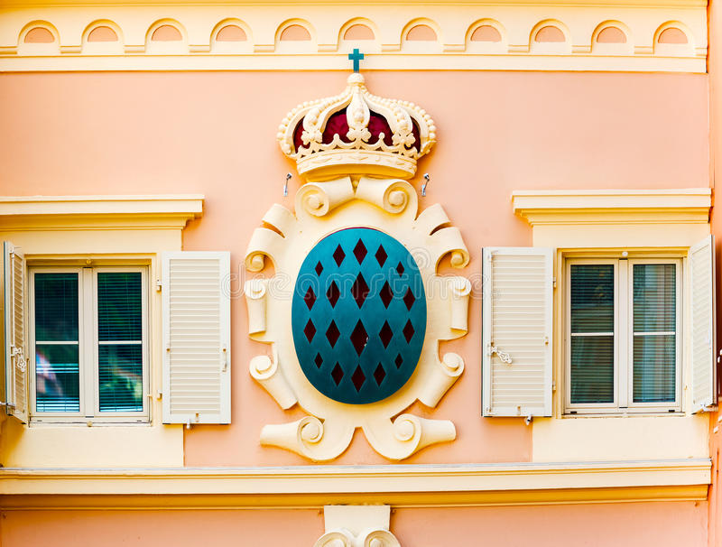 Details of Monaco. Architectural Detail from Monaco main square royalty free stock photos