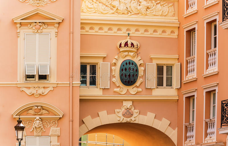 Details of Monaco. Architectural Detail from Monaco main square stock images
