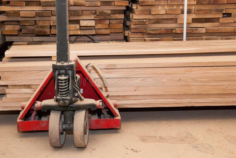 Details of oak boards stacked stock images