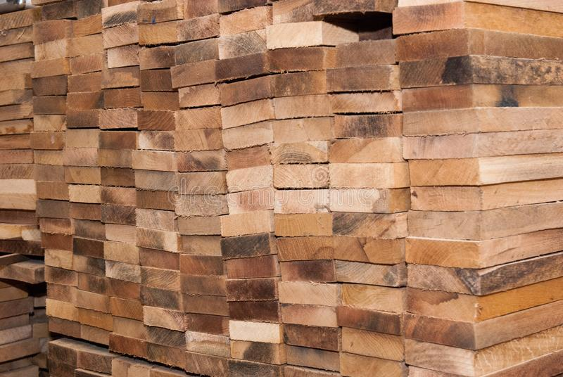 Details of oak boards stock photos