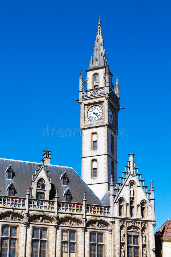 Free Details Of Old Post Office Building With The Clock Tower, Ghent, Belgium Royalty Free Stock Images - 70040929