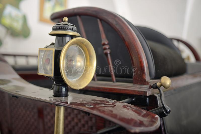 Old carriage lamp stock photos