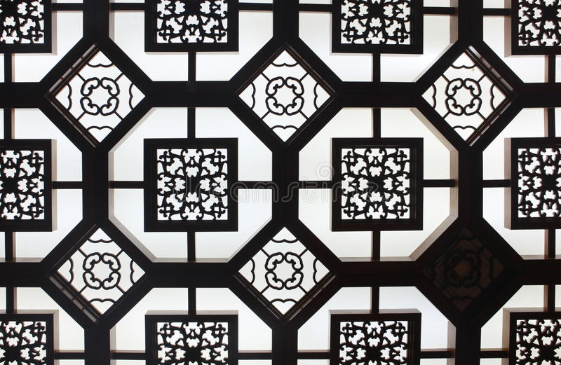 Download Details Of Old Ornamental Ceiling In Beijing, Chin Stock Photo - Image: 20711876