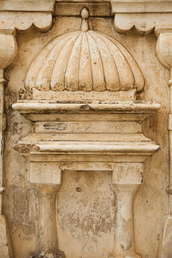 Details on Old temple ruins. Katas hindu hind hinduism pakistan india religion religious dome buddhism buddha pray prayer  Old temple ruins. Stone, wall stock image
