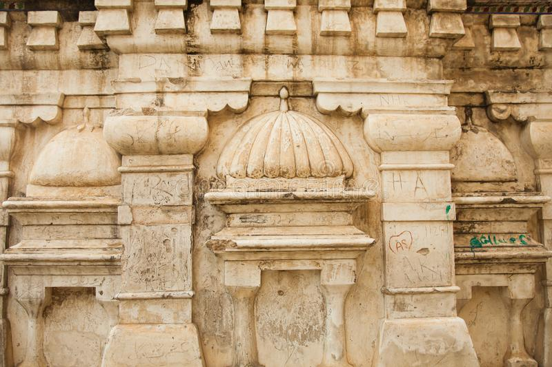 Details on Old temple ruins. Katas hindu hind hinduism pakistan india religion religious dome buddhism buddha pray prayer  Old temple ruins. Stone, wall royalty free stock photography