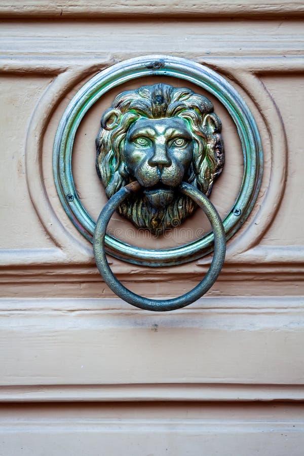 Details op de deurleeuw royalty-vrije stock afbeeldingen