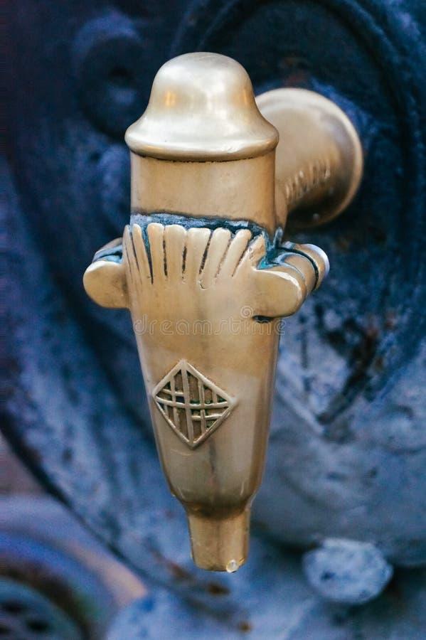 Details op de kraan van de Canaletas-fontein royalty-vrije stock afbeeldingen
